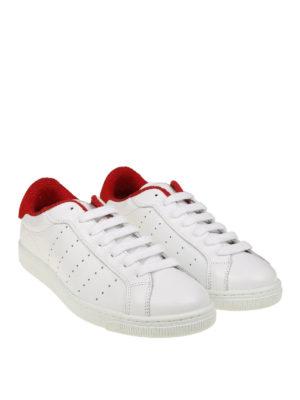 DSQUARED2: sneakers online - Sneaker Santa Monica bianche e rosse