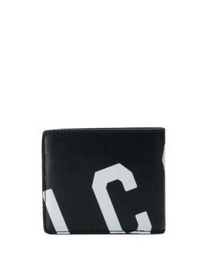 DSQUARED2: portafogli online - Portafoglio in pelle con stampa Icon