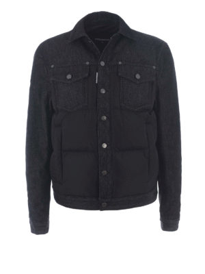 Dsquared2: padded jackets - Nylon and denim padded jacket