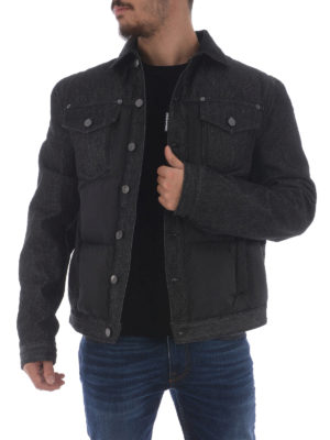 Dsquared2: padded jackets online - Nylon and denim padded jacket