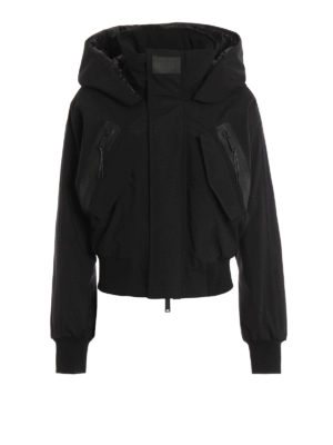 Dsquared2: padded jackets - Tech fabric hooded padded bomber