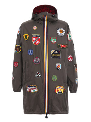 Dsquared2: parkas - K-Way patch reversible parka
