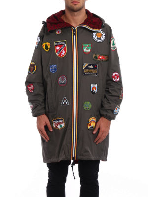 Dsquared2: parkas online - K-Way patch reversible parka