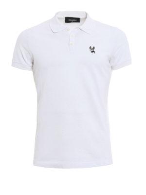 Dsquared2: polo shirts - Cotton pique polo shirt