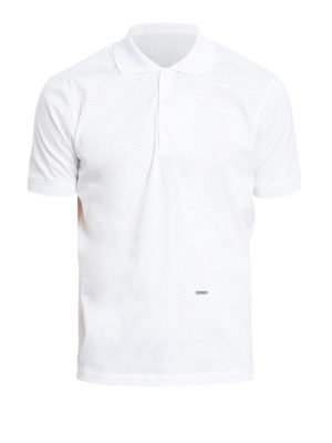 Dsquared2: polo shirts - Logo plaque and side zip polo