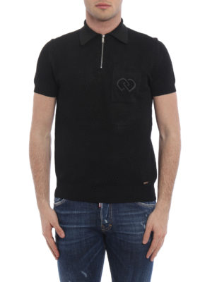 Dsquared2: polo shirts online - See-through viscose jersey polo