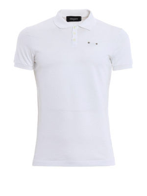 Dsquared2: polo shirts - Piercing pique polo