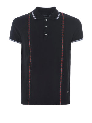 Dsquared2: polo shirts - Printed check suspender polo