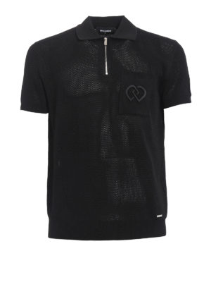 Dsquared2: polo shirts - See-through viscose jersey polo