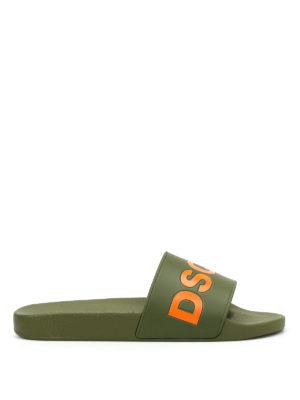 Dsquared2: sandals - Dune slide rubber sandals