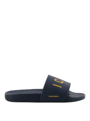 Dsquared2: sandals - Icon pool slide sandals