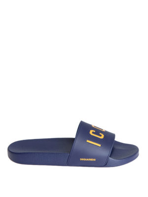 Dsquared2: sandals - Icon rubber sliders