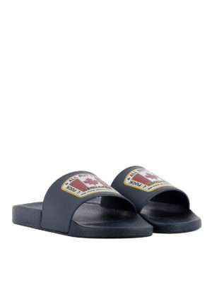 Dsquared2: sandals online - Canadian Flag rubber slides