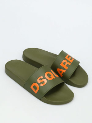 Dsquared2: sandals online - Dune slide rubber sandals