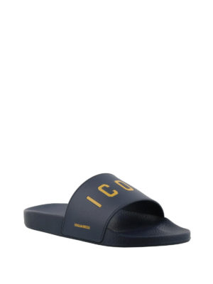 Dsquared2: sandals online - Icon pool slide sandals