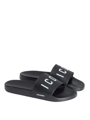 Dsquared2: sandals online - Icon rubber sliders