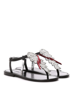 Dsquared2: sandals online - Jewel thong sandals