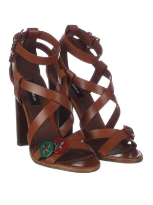Dsquared2: sandals online - Safari Chic leather heeled sandals