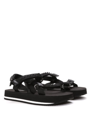 Dsquared2: sandals online - Studded velcro sandals