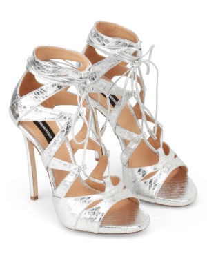 Dsquared2: sandals online - Tie me up sandals
