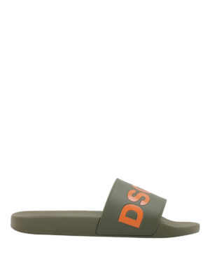 Dsquared2: sandals - Rubber slides with logo lettering