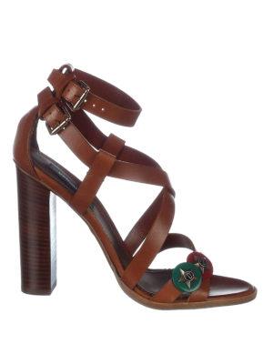 Dsquared2: sandals - Safari Chic leather heeled sandals