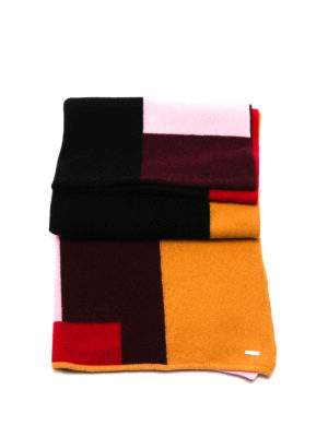 Dsquared2: scarves - Colour block knitted wool scarf
