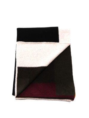 Dsquared2: scarves online - Colour block knitted wool scarf