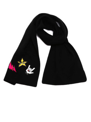 Dsquared2: scarves - Patch detailed wool scarf