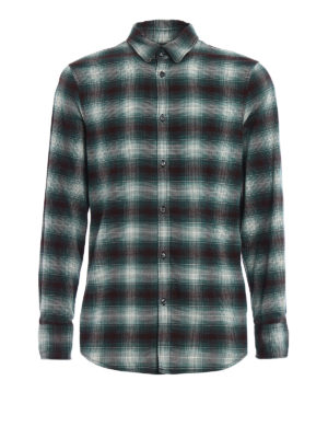 Dsquared2: shirts - Check cotton flannel shirt