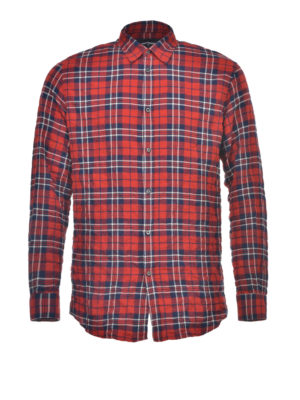 Dsquared2: shirts - Check patterned cotton shirt