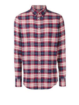 DSQUARED2: camicie - Camicia Check Relax Dan