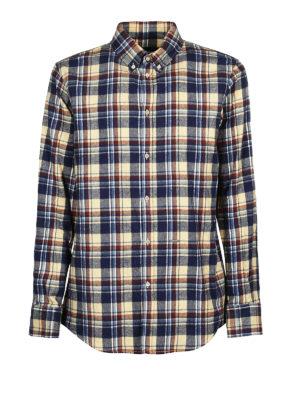 DSQUARED2: camicie - Camicia b/d in cotone a quadri scozzese