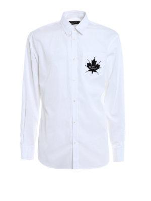 Dsquared2: shirts - Classic cotton shirt with logo