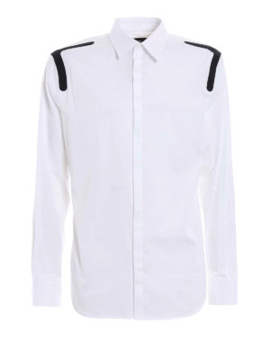 Dsquared2: shirts - Contrasting detailed poplin shirt