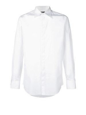 DSQUARED2: camicie - Elegante camicia in cotone bianco