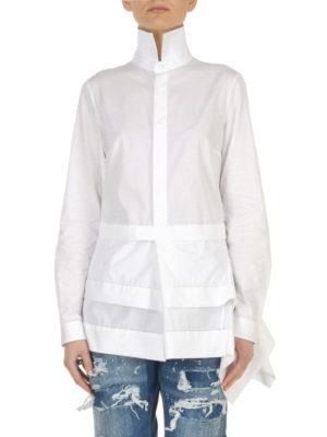 Dsquared2: shirts online - Asymmetric peplum cotton shirt
