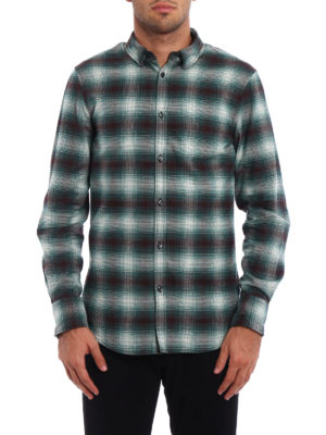 Dsquared2: shirts online - Check cotton flannel shirt