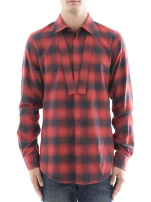 Dsquared2: shirts online - Check flannel shirt with self-tie