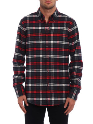 Dsquared2: shirts online - Chequered fleece cotton shirt