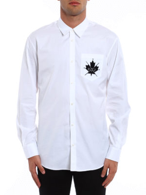 Dsquared2: shirts online - Classic cotton shirt with logo