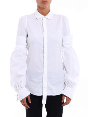 Dsquared2: shirts online - Puff sleeved cotton shirt