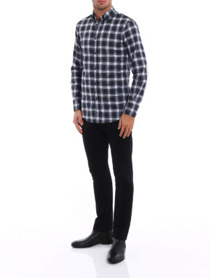 Dsquared2: shirts online - Tartan cotton b/d shirt