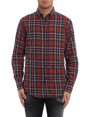Dsquared2: shirts online - Tartan patterned cotton shirt