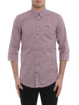 Dsquared2: shirts online - Three quarter sleeve checked shirt