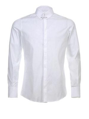 Dsquared2: shirts - Pin collar cotton shirt