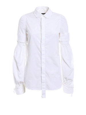 Dsquared2: shirts - Puff sleeved cotton shirt