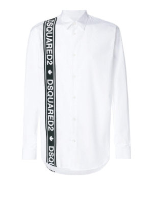 DSQUARED2: camicie - Camicia Stretch Tape Relax Dan