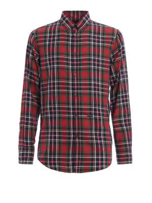 Dsquared2: shirts - Tartan patterned cotton shirt
