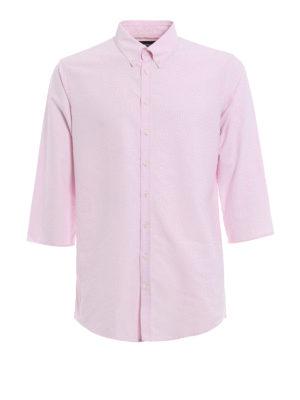 Dsquared2: shirts - Three quarter sleeve cotton shirt